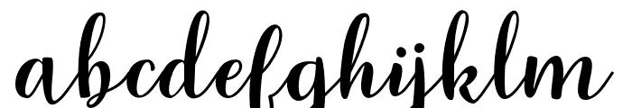 Raspberry Font LOWERCASE