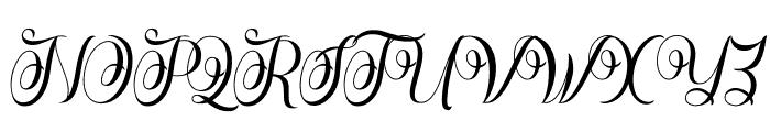 Rasputia Font UPPERCASE