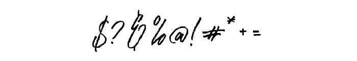 RasthmonBrush Font OTHER CHARS