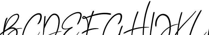 Rattingan Font UPPERCASE