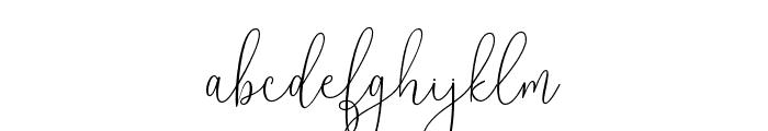 Reading-Regular Font LOWERCASE