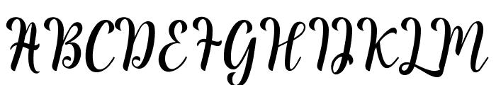 ReadingScript Font UPPERCASE
