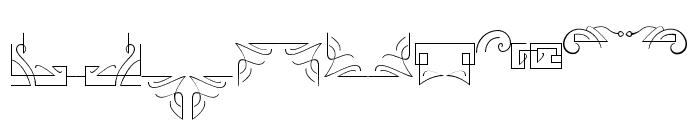 Reborn Ornament Font LOWERCASE