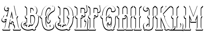 Reborn Shadow Font UPPERCASE
