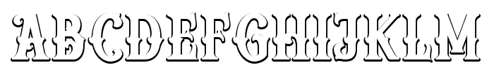 Reborn Shadow Font LOWERCASE