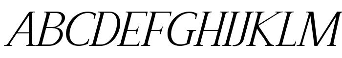 Recoba Italic Font UPPERCASE