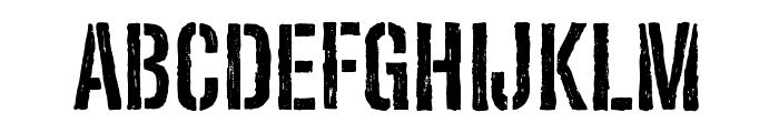 Redgar Stencil Font LOWERCASE