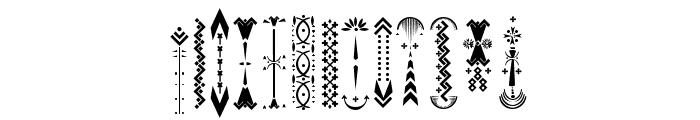 Relic Island 2 frame Regular Font UPPERCASE