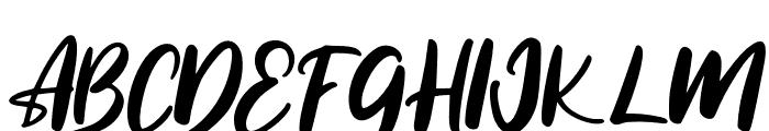 Reliser Font UPPERCASE