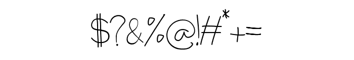 RestarioScript Font OTHER CHARS