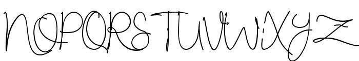 RestarioScript Font UPPERCASE