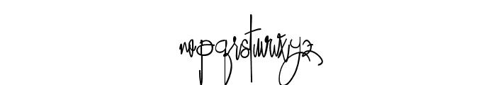 RestarioScript Font LOWERCASE