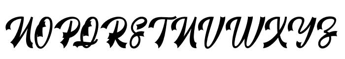RestylaScript Font UPPERCASE