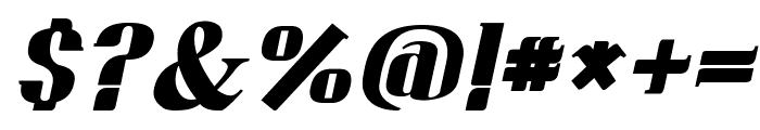 Retro Remembers Italic Font OTHER CHARS