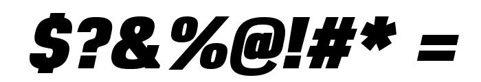 Reznik Black Italic Font OTHER CHARS