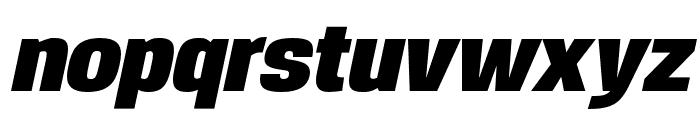 Reznik Black Italic Font LOWERCASE