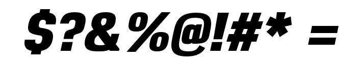 Reznik Heavy Italic Font OTHER CHARS