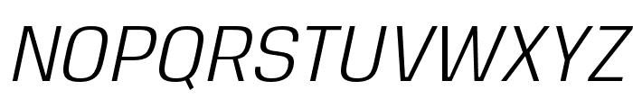 Reznik Italic Font UPPERCASE