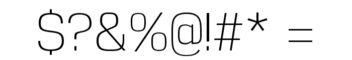 Reznik Light Font OTHER CHARS