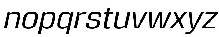 Reznik Medium Italic Font LOWERCASE