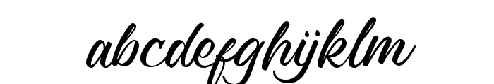 Richard Benoitt Regular Font LOWERCASE