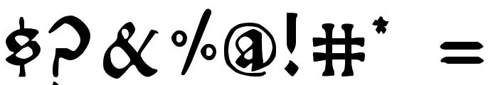 RisingSun Font OTHER CHARS