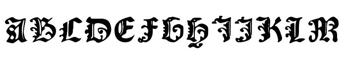 RisingSun Font UPPERCASE