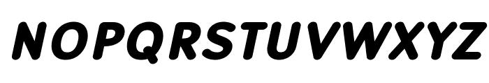 Robaga Rounded Black Italic Font UPPERCASE