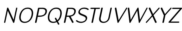 Robaga Rounded Light Italic Font UPPERCASE