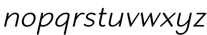 Robaga Rounded Light Italic Font LOWERCASE