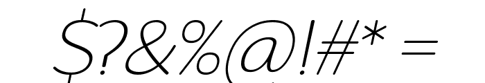 Robaga Rounded Thin Italic Font OTHER CHARS