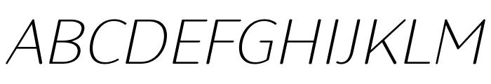 Robaga Rounded Thin Italic Font UPPERCASE