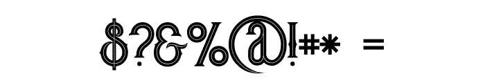Rocket 2 Inline Font OTHER CHARS