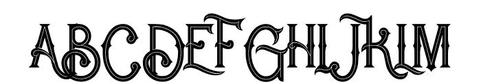 Rocket 2 Inline Font UPPERCASE