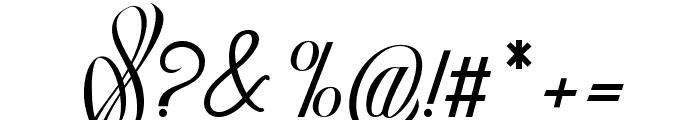 Rocklands original Italic Font OTHER CHARS