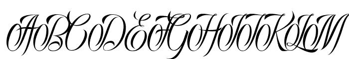 Rocklands original Italic Font UPPERCASE