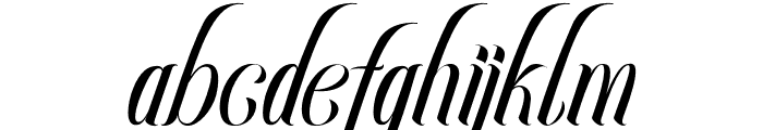 Rocklands original Italic Font LOWERCASE