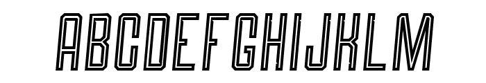 Roguedash Italic Line Font UPPERCASE