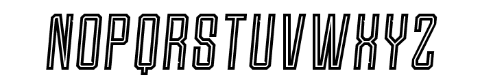 Roguedash-ItalicLine Font UPPERCASE