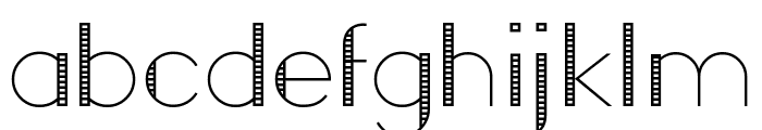 Roll Font LOWERCASE