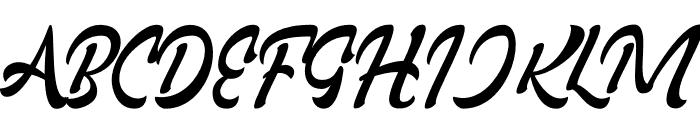 Rollade Ballado Font UPPERCASE