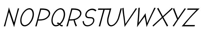 Romanilo Bold Italic Font UPPERCASE