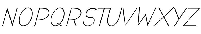 Romanilo Italic Font UPPERCASE