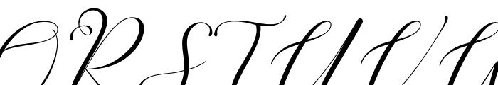 Romansan Font UPPERCASE