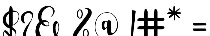 RomantisScript Font OTHER CHARS