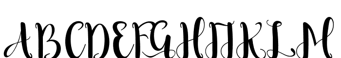 RomantisScript Font UPPERCASE