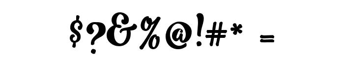 RomeroScript Font OTHER CHARS