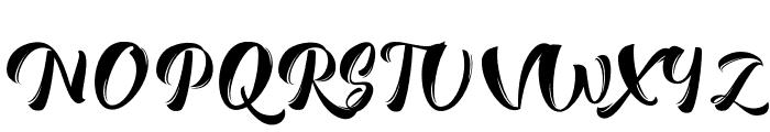 RomeroScript Font UPPERCASE
