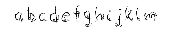 Roots Font LOWERCASE