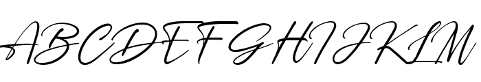 Rosellinda Alyamore Font UPPERCASE
